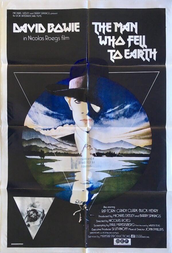 The Man Who Fell To Earth pelicula vitrina rock