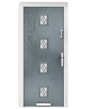 ξύλινη πόρτα εισόδου γαλάζιο