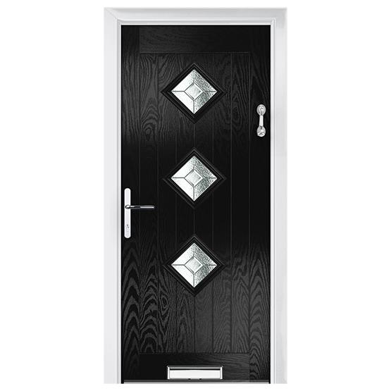 πόρτα ξύλινη με ρόμβους