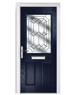 πόρτα αλουμινίου με βιτρώ