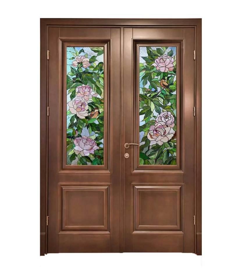 ξύλινη πόρτα διφυλλη