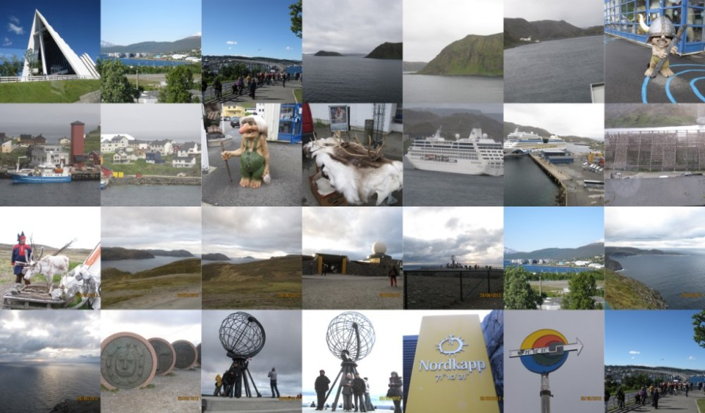 Collage  crociera a Capo Nord (3/3)