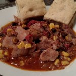 Hot Bean Stew, Warm Homemade Bread, Cold Winter Night