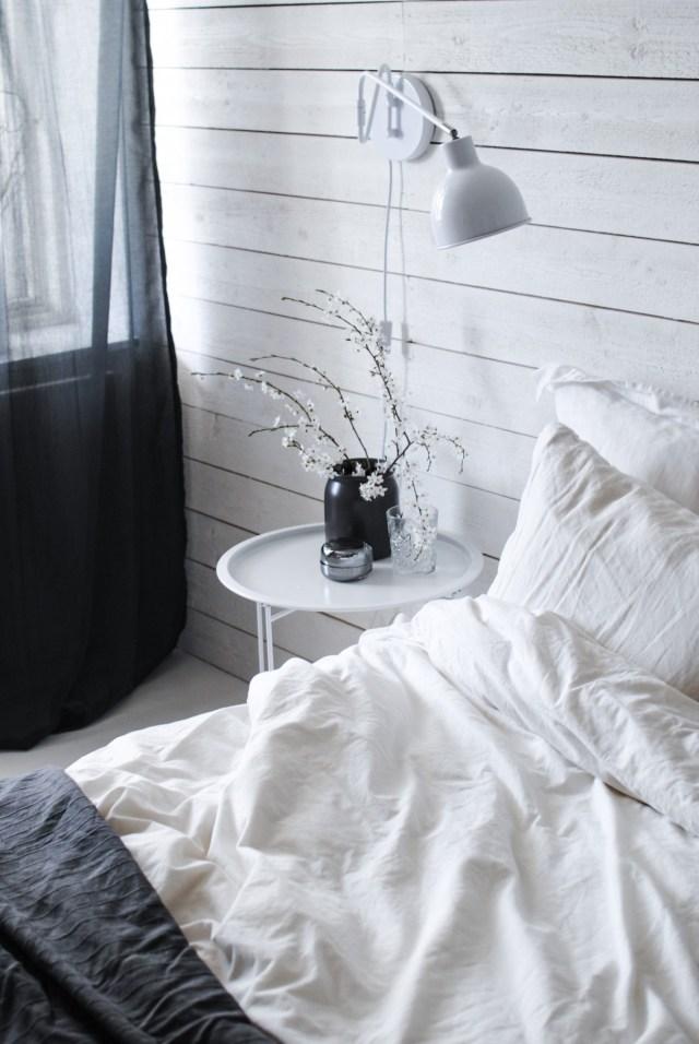 skandinaviskt sovrum