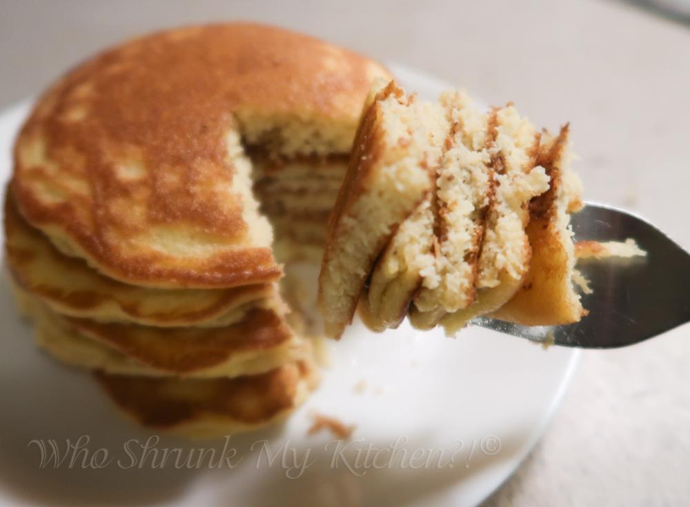 fluffy low carb keto coconut flour pancakes
