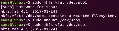 Crea file system con il comando mkfs