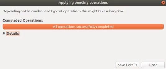 Operazione di formattazione completata correttamente