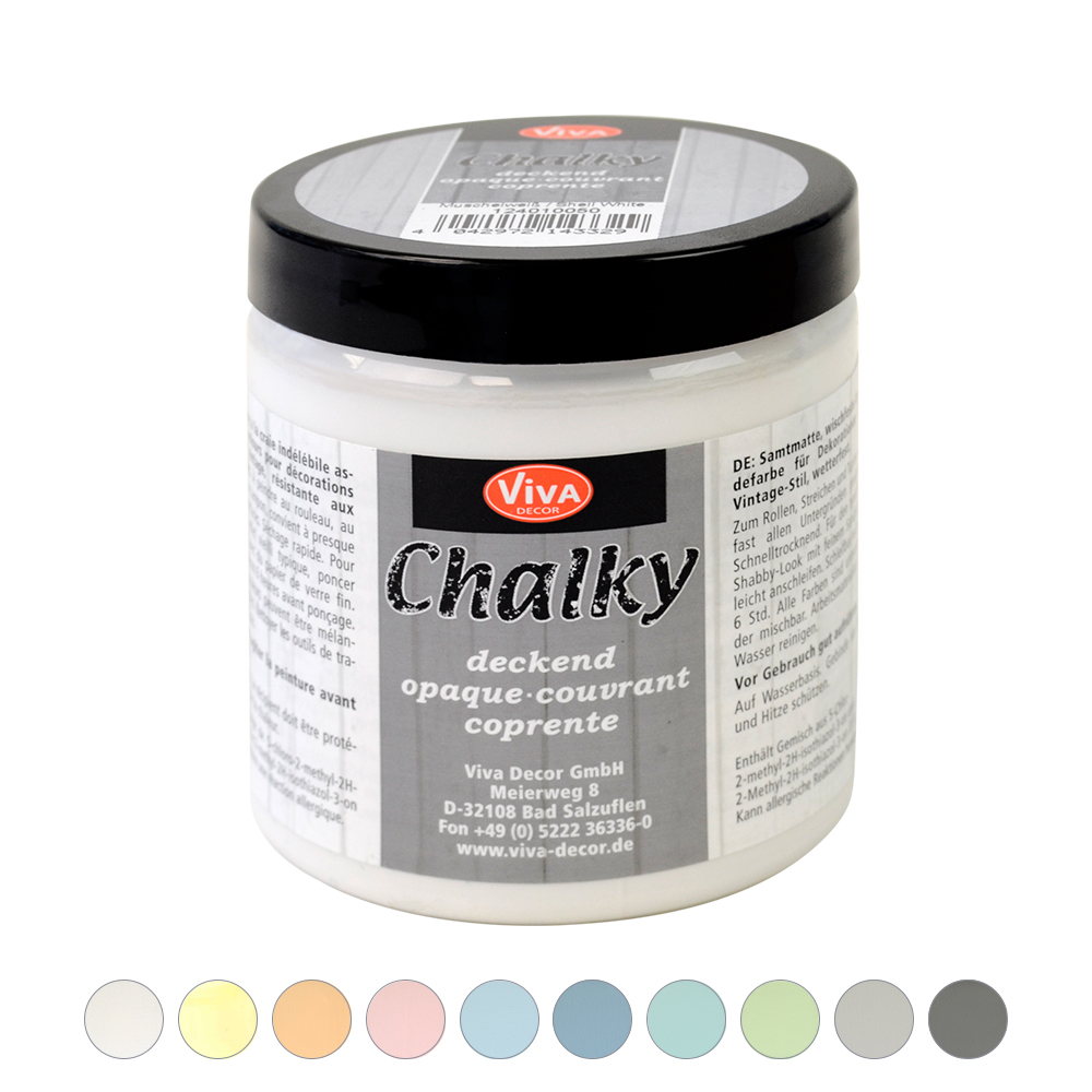 Vintage Look Streichen Chalky Opaque, 250 Ml, 10 Colors | Vintage Effect | Effect Paints | Paints | Viva Decor Online-shop