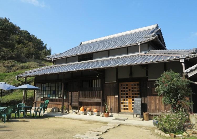 Japanese old folk house cafe in Awaji Island