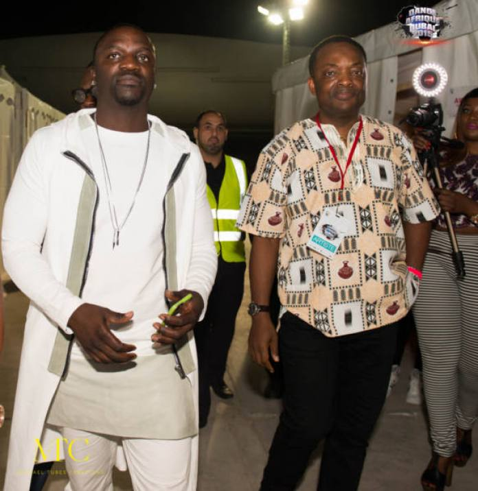 DJ Abass and Akon on the move