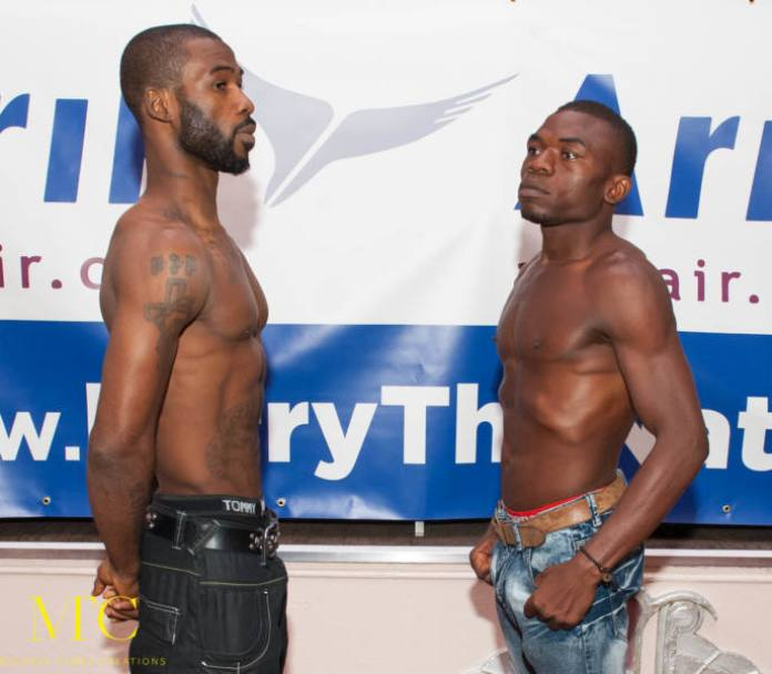 Larry Ekundayo vs Lamptey weigh in-5