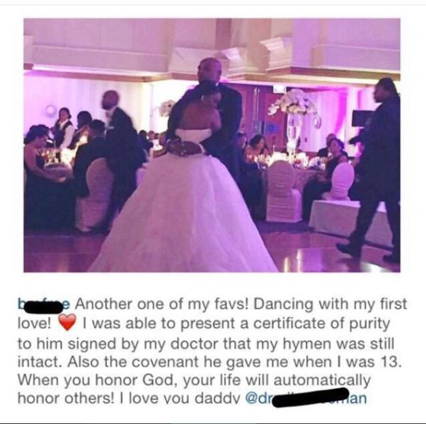 What The Hell Bride Presents Certificate Of Purity To Her Dad At
