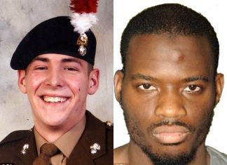 Lee Rigby and his killer Michael Adebolajo