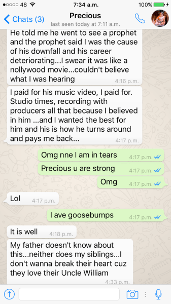 Precious Jones 2Shotz Wife Whatsapp Messages 8