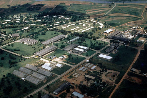 ... Aerial view of IITA structures in Ibadan | by IITA Image Library