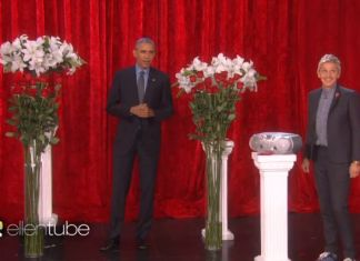 Obama and Ellen Valentines Day