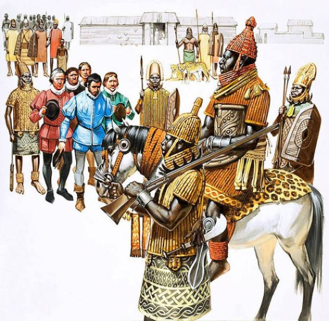 oba-king-of-the-benin-empire-receiving-a-group-of-portuguese-ambassadors-in-the-16th-century-ad