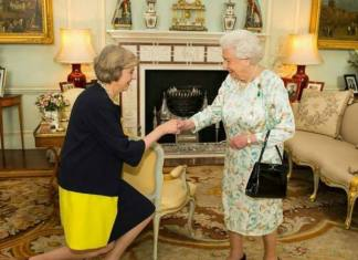 British Prime Minister Theresa May and Queen