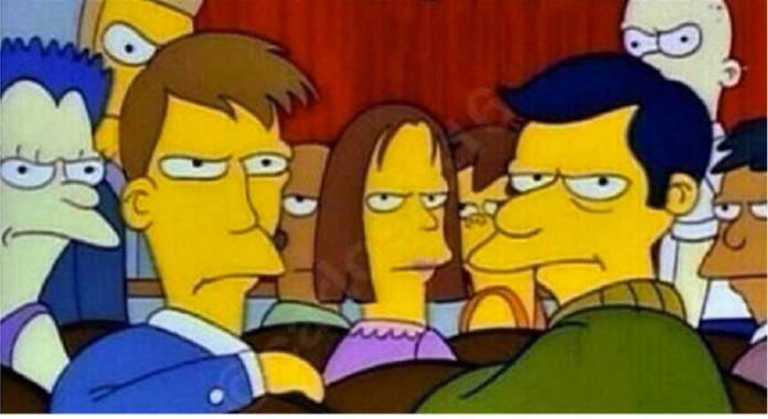 Simpson evil stare 2 (5 types of Football fans you will find at viewing centres in Nigeria)