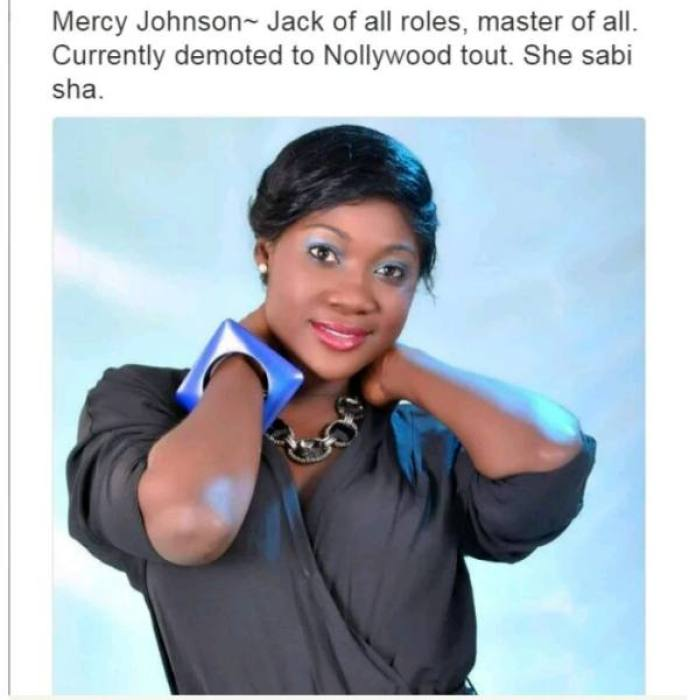 Nollywood Actors and their characteristics - Mercy Johnson