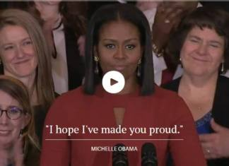 Michelle Obama - Leaving Speech
