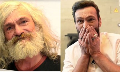 Homeless Man - Before and after