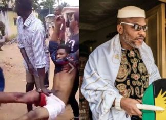 Victim shot at Nnamdi Kanu's residence