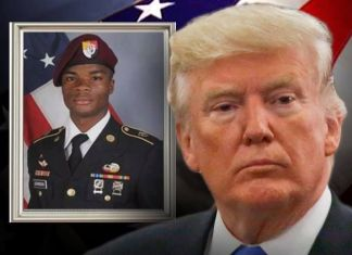 Trump and fallen soldier