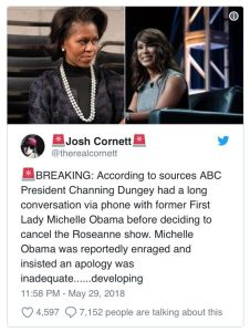 IMG_9347-226x300 Roseanne Accuses Michelle Obama Of Being The Real Reason For Her ABC Show Getting Canceled