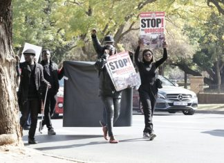 Protest March by Nigerians In South Africa against the Plateau Killings -2