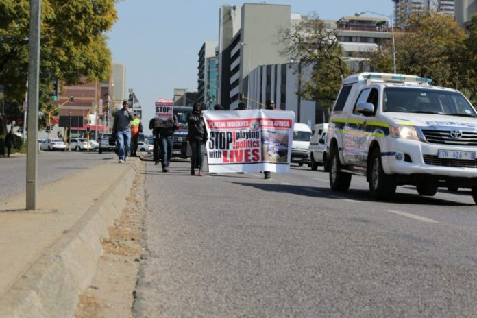 Protest March by Nigerians In South Africa against the Plateau Killings -3