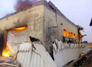Nigerian electoral commission offices burnt