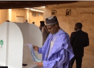Buhari wins polling booth