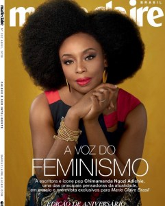 Chimamanda Adichie on the cover of Marie Claire Magazine