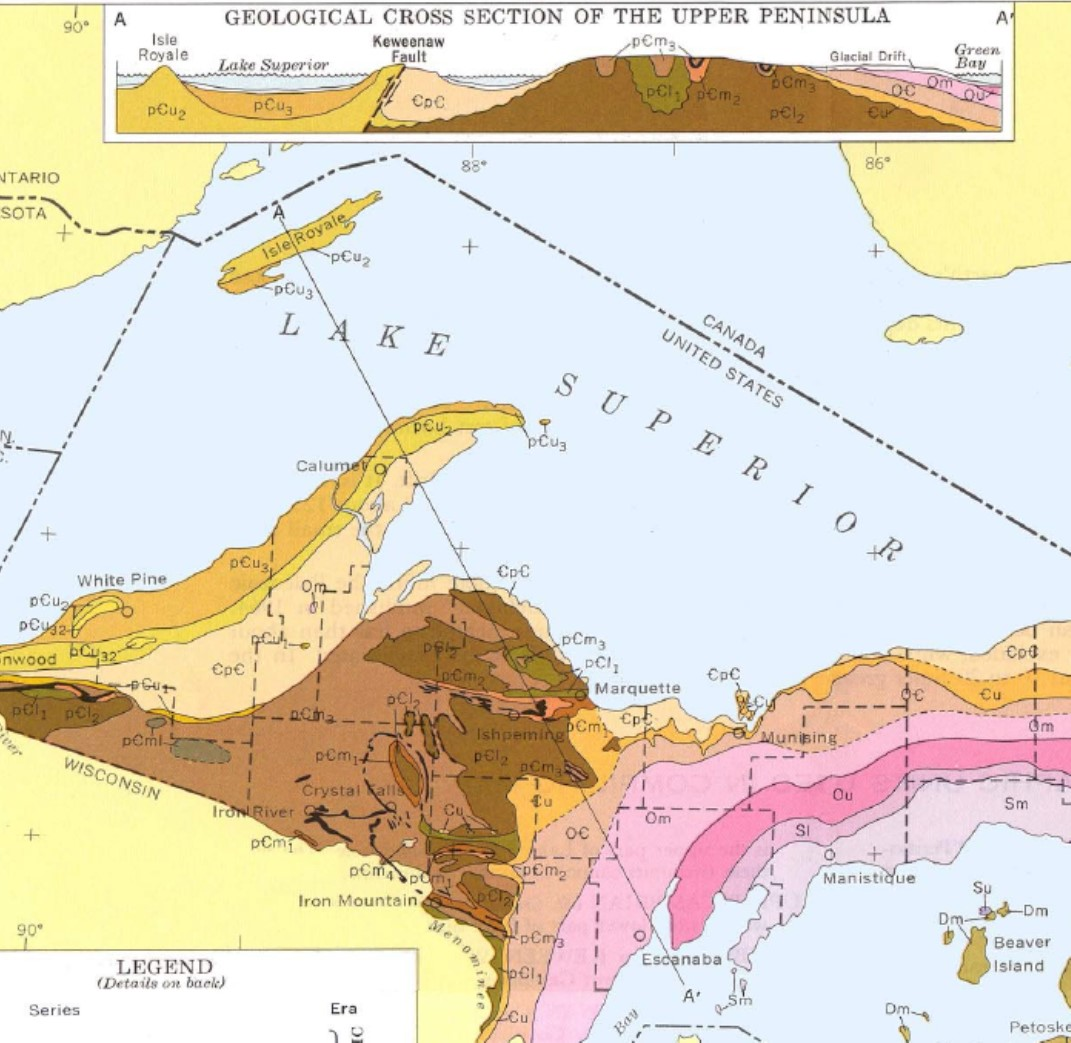 Reading A Geologic Map Physical Geology Laboratory