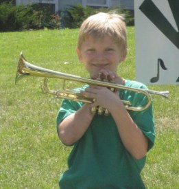 Trumpet student at Viva Camp 2010