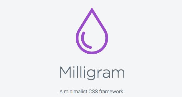 Milligram FremeworkCSS 01