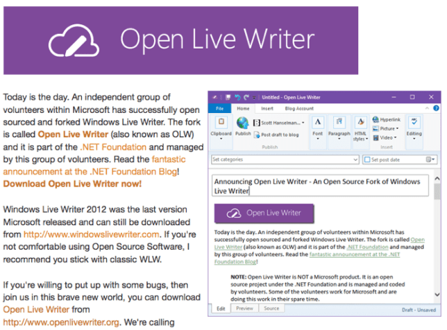 OpenLiveWriter
