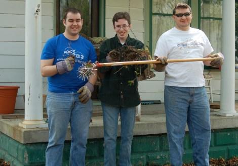 Zeb, Jason, and Tim. Alpha Beta Boy Power.