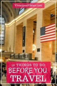Before You Travel