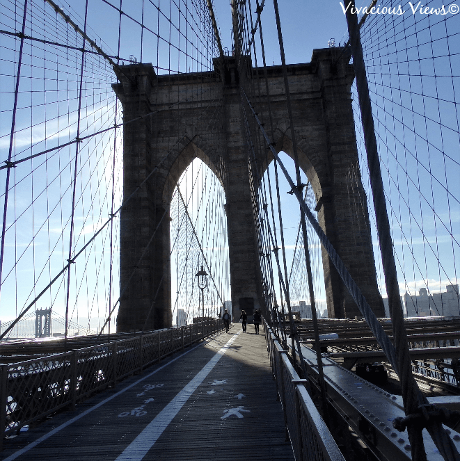 October Trip to New York. Brooklyn Bridge. Vivacious Views
