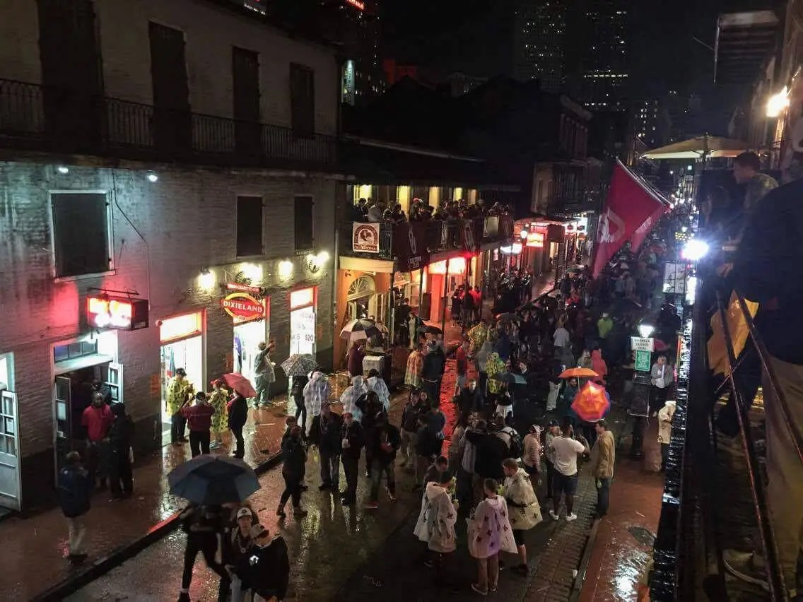 New Years Eve In New Orleans Bourbon Bandstand Balcony View