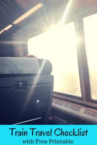 Train Travel Checklist