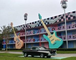 All-Star Music Resort. Vivacious Views. Rock Inn Section