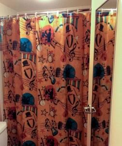 All Star Music Resort. Vivacious Views. Shower Curtain