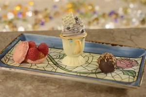 Be Our Guest Dinner Changes. Dessert Trio. Vivacious Views