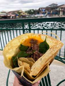 AristoCrêpes. Beef Crêpe. Disney Springs. Vivacious Views