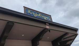 AristoCrêpes. Sign. Disney Springs. Vivacious Views