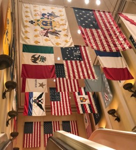 Memorial Day at Disney World. Epcot American Adventure Flags. Vivacious Views