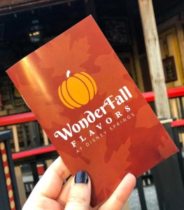 Halloween and Fall Favorites at Disney World. WonderFall Flavors Passport. Vivacious Views